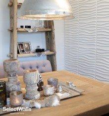 Parement bois mdf 3d Niki SelectWalls 2,5m²
