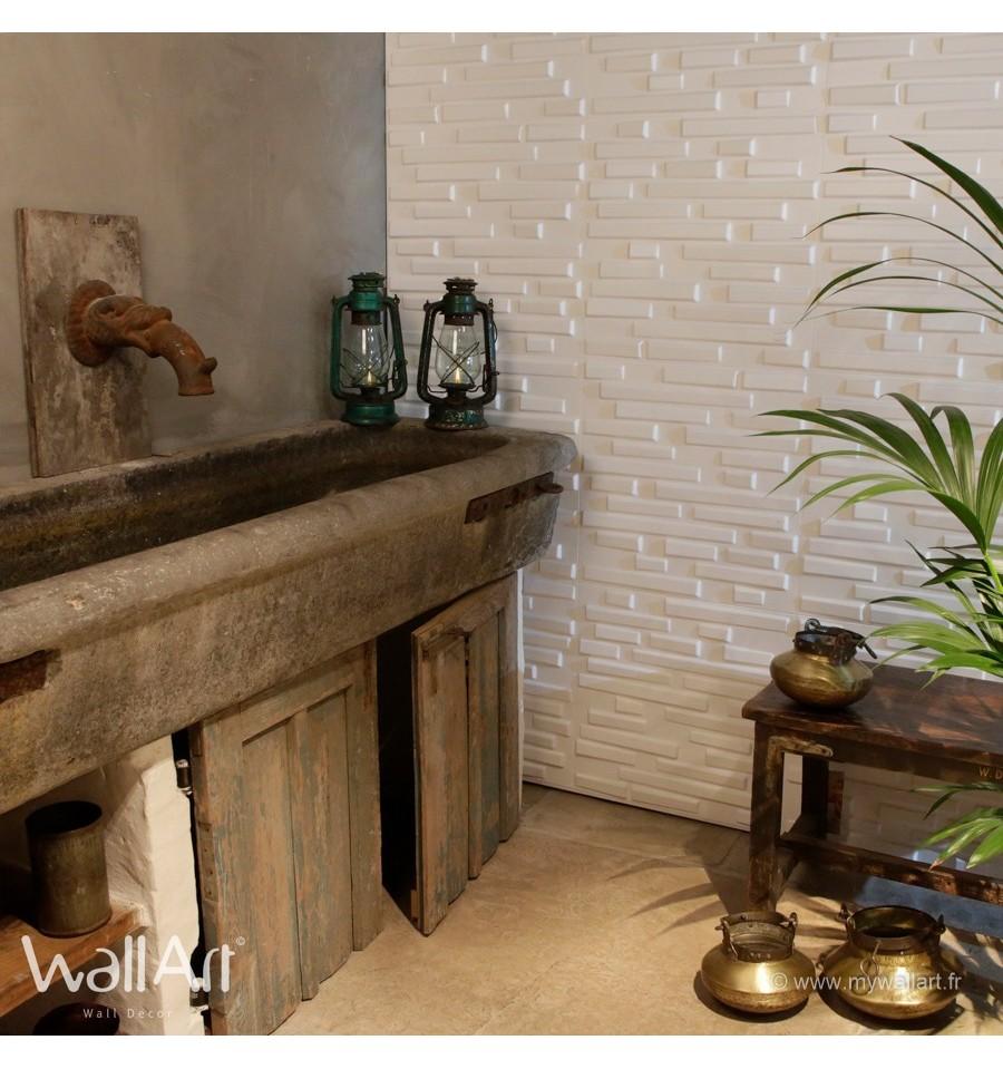 panneau mural 3d panneaux muraux 3d flows. Black Bedroom Furniture Sets. Home Design Ideas