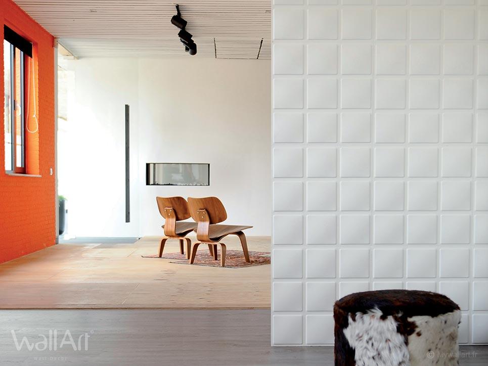 rev tement mural en relief panneaux 3d cubes. Black Bedroom Furniture Sets. Home Design Ideas