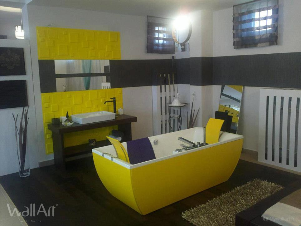 rev tement mural panneaux muraux 3d squares. Black Bedroom Furniture Sets. Home Design Ideas