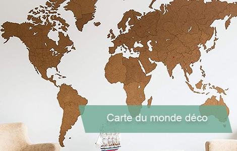 carte du monde murale