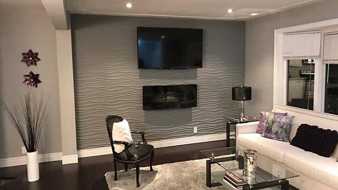 Idée deco salon moderne : réaliser un mur television 3d - 3D ...