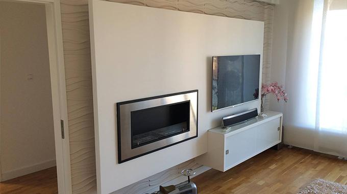 deco mur salon moderne
