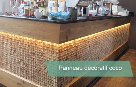 mur en bois coco