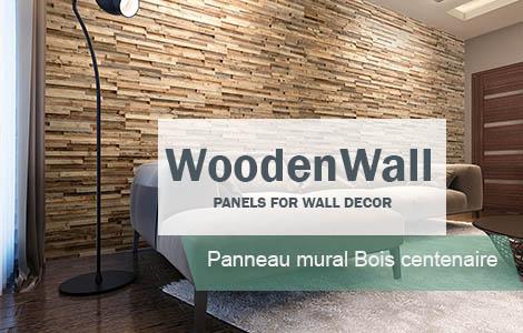 Panneau Mural bois vieilli