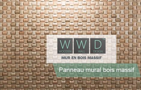 Panneau mural bois massif