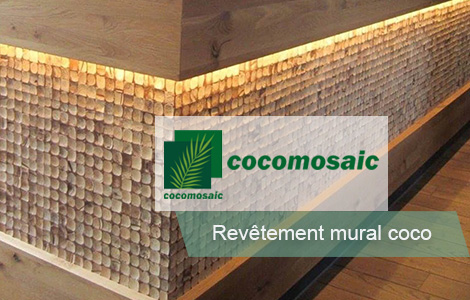 Revetement mural noix de coco