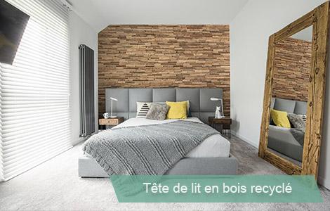 Habiller une tete de lit en bois