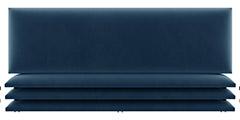 tete de lit cuir bleu