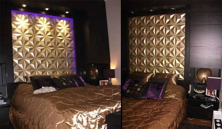 t te de lit fabriquer une t te de lit 3d wallart. Black Bedroom Furniture Sets. Home Design Ideas