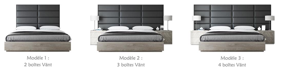 76 cm de Large, Tissage Bleu Denim Facile /à Installer Lot de 4 Panneaux muraux Accent Vant T/ête de lit capitonn/ée Lit Simple et Double