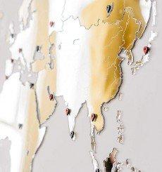 Carte Murale du Monde Miroir - 130x78 cm - Exclusive