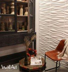 Panneau mural 3D Waves WallArt - 3m²