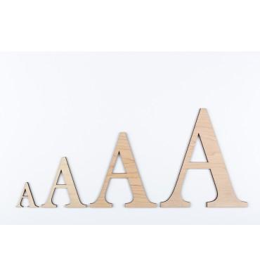 Lettres 3D en bois Erable - 50mm à 200mm