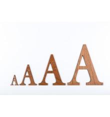 Lettres 3D en bois Cerise - 50mm à 200mm