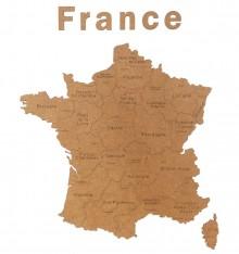 Carte de France Déco - 85x70 cm - Noir