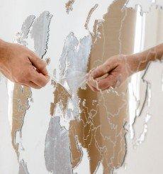 Miroir Carte du Monde - 90x54 cm - Exclusive