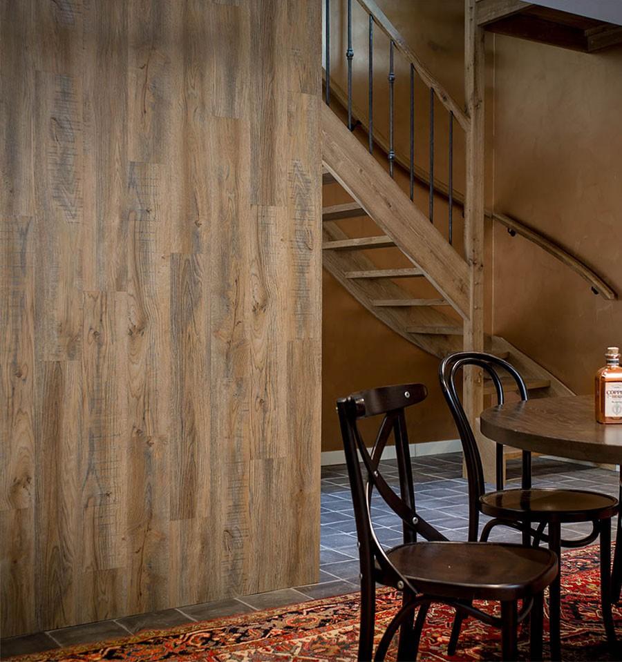 lambris mural pvc bois  vinyle effet bois  wallart