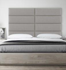 Tête de Lit Capitonnée design - Tissu Beige - 91 cm