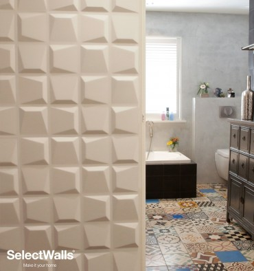 Parement bois mdf 3d Faye SelectWalls 2,5m²