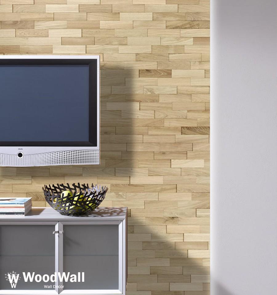 Mur En Parement Salon parement bois chêne nature woodwall