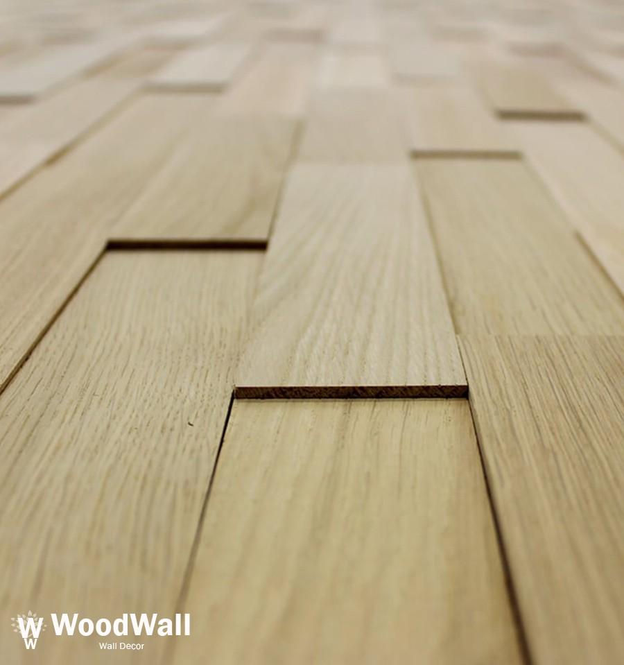 Plaquette De Parement A Coller parement bois chêne nature woodwall