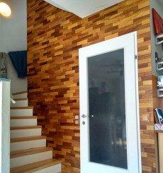 Panneau mural bois mural Iroko WoodWall