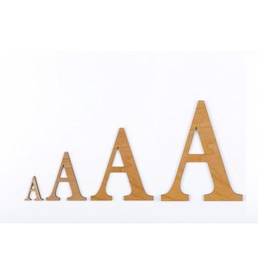 Lettre 3D en bois Hêtre - 50mm à 200mm