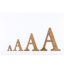 Lettres 3D en bois - chêne