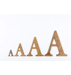 Lettres 3D en bois Chêne - 50mm à 200mm