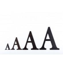 Lettres en bois 3D Wengue - 50mm à 200mm