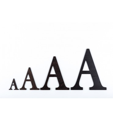 Lettres en bois 3D - Wengue