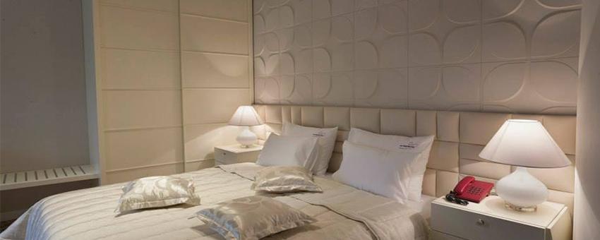 Deco chambre hotel design avec les panneaux 3D Sweeps
