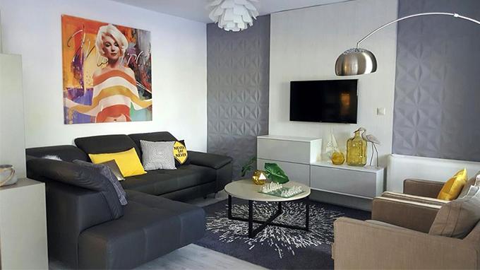 Id e deco comment cr er un salon moderne design avec Salon deco design