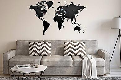 Carte murale Monde