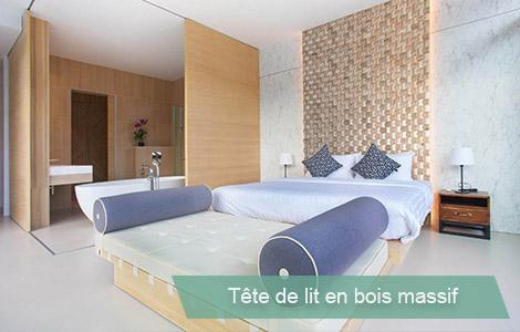 Tete de lit design bois