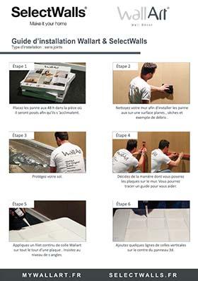 Guide de pose panneau mural 3d