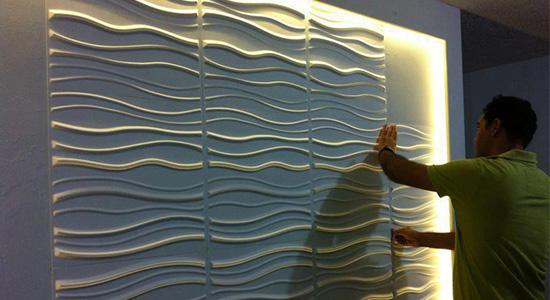installation panneaux muraux 3d wallart