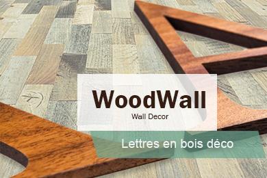 Lettres 3d en bois