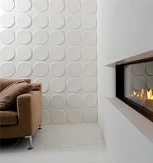 panneaux muraux 3d ellipses