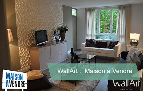 Panneau mural 3d Wallart Maison à vendre