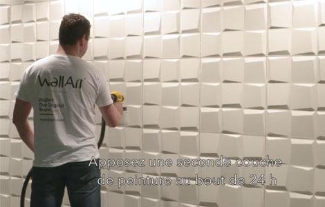 Comment peindre panneau mural 3d?