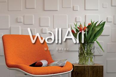 revetement mural 3d wallart cubes