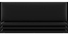 Panneau décoratif Vant noir charbon