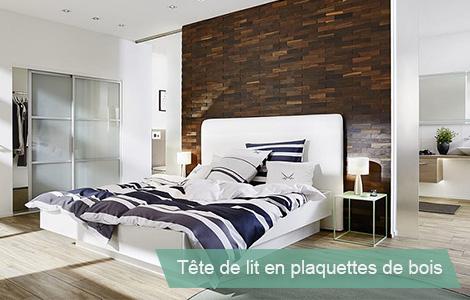 Habiller une tete de lit design en bois
